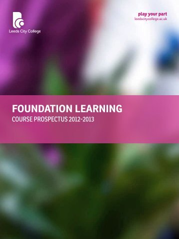FOUNDATION LEARNING - Leeds City College