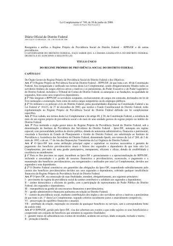 Diário Oficial do Distrito Federal - Instituto de Previdência dos ...
