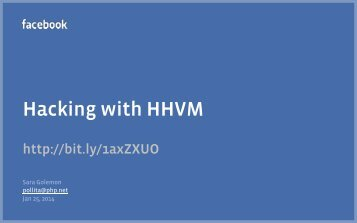 Hacking with HHVM