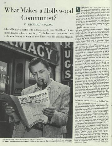 """English, """"What Makes a Hollywood Communist?"""" - Gutenberg-e Home"""