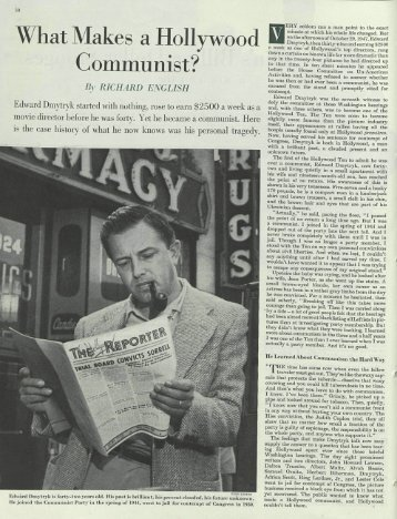 "English, ""What Makes a Hollywood Communist?"" - Gutenberg-e Home"