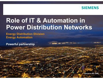 Role of IT & Automation in Power Distribution Networks - India Core