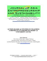action-based activities in teaching corporate entrepreneurship