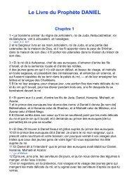 Le Livre du Prophète DANIEL Chapitre 1 - Laurent Remise