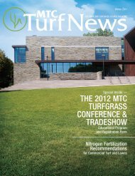 The 2012 MTC TurfgraSS ConferenCe & TradeShow