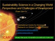 Sustainability Science in a Changing World