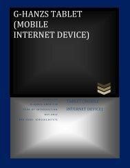 mobile internet device - G-Hanz