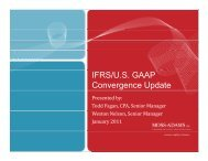 IFRS/U.S. GAAP Convergence Update - The Institute of Internal ...