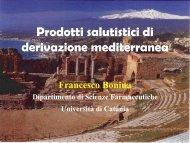 Prodotti salutistici di derivazione mediterranea - Portale dell ...