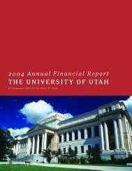 THE UNIVERSITY OF UTAH - Financial & Business Services