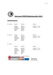 Turnierplan - SC Cham