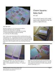 Charm Squares Baby Quilt PDF Pattern - Sew Mama Sew