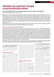 Základní oční vyšetření a terapie v praxi praktického lékaře