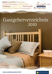 Kategorien - Südburgenland Tourismus