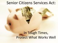 Senior Citizens Services Act: Going Back on Our Word