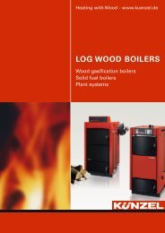 Log wood boilers brochure - Paul Künzel GmbH & Co.