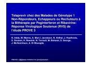 Telaprevir chez des malades de Génotype 1 non répondeurs ... - Afef