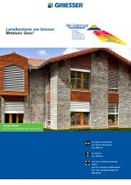 Lamellenstoren von Griesser. Metalunic Sinus® - Sun-Protect GmbH