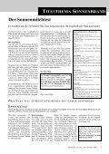 Sommer-Spezial: Sonnenbrand - Sun 21 - Schutz von Umwelt und ... - Seite 7