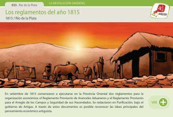 Los reglamentos del año 1815 - Manosanta