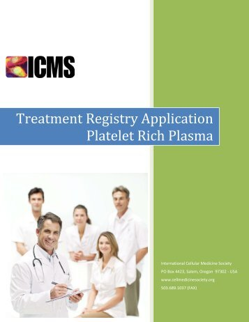 Treatment Registry Application Platelet Rich Plasma - International ...