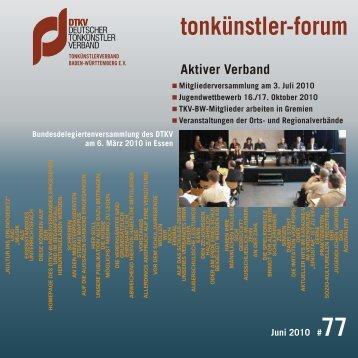 tonkünstler-forum Juni 2010 #77 - Pcmedien.de