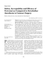 Safety, Acceptability and Efficacy of Periconal as Compared to ...