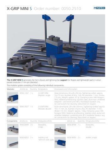 X-GRIP MINI S Order number: 0050.2510 - Matrix GmbH