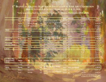 List of Artwork