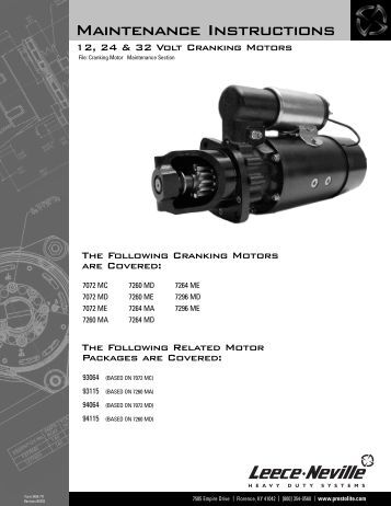 Starter Motor Manual 3404 - Prestolite Electric Inc.