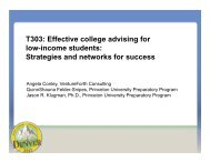 T303: Effective college advising for low-income students ... - nacac