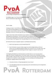 Aan het College van Burgemeester en ... - PvdA Rotterdam