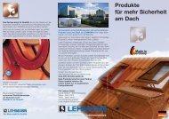 Flyer Bedachungsartikel - Otto Lehmann GmbH