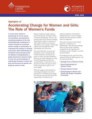 The Role of Women's Funds - Foundation Center