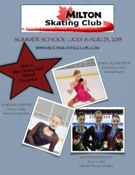 Information Package - Milton Skating Club