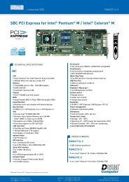 SBC PCI Express for Intel® Pentium® M / Intel ... - DSM Computer