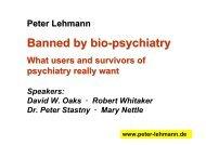 Banned by bio-psychiatry - Peter Lehmann Publishing