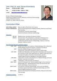 Univ.-Prof. Dr. med. Florian Kronenberg