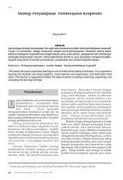 Strategi Penyampaian Pembelajaran Kooperatif - BPK Penabur