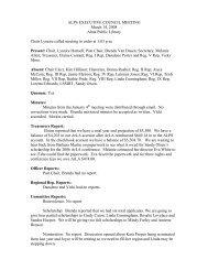 ALPS EXECUTIVE COUNCIL MEETING March 14, 2008 Alma ...