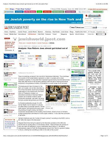 Jerusalem Post - The World Union for Progressive Judaism