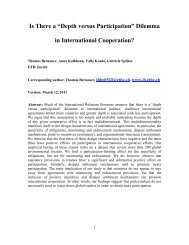 Is There a 'Depth versus Participation' Dilemma in ... - Yale University