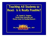 Teaching All Students to Read: Is it Really Possible? y - The Hawaii ...