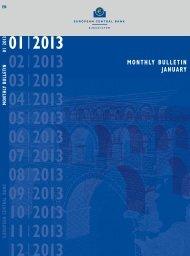 ECB Monthly Bulletin January 2013 - European Central Bank - Europa