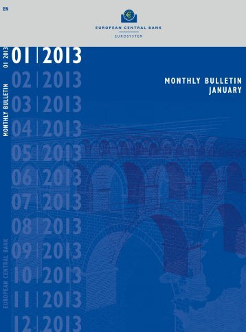ECB Monthly Bulletin January 2013 - European Central Bank - Europa