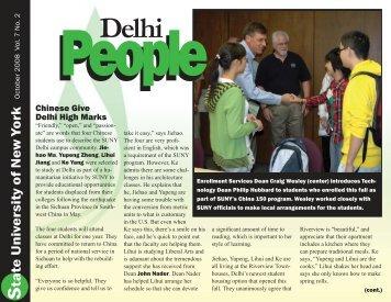 October 2008 - SUNY Delhi