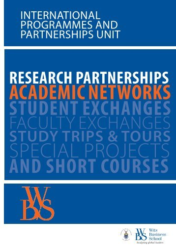 WBS International Partnerships and Programmes - 39th annual pim ...