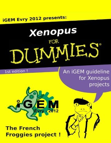Download Xenopus For Dummies! - iGEM 2012