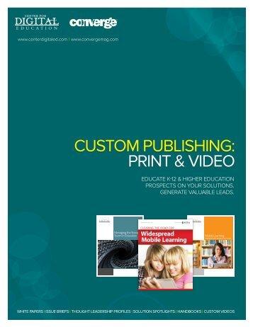 Custom PuBLishing: Print & Video - Navigator