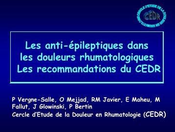 Recommandations du CEDR